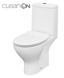 CERSANIT - WC KOMBI MODUO 43 671 011 3/5 CLEAN ON, SEDADLO SLIM DUROPLAST-SOFT CLOSE (K116-032)