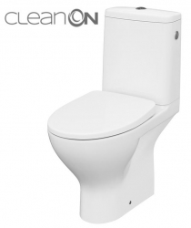 CERSANIT - WC KOMBI MODUO 43 674 010 3/5 CLEAN ON, SEDADLO SLIM WRAM DUROPLAST-SOFT CLOSE (K116-036)