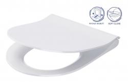 CERSANIT - WC sedátko CITY OVAL SLIM antib. OFF EASY jedno tlačidlo (K98-0146)
