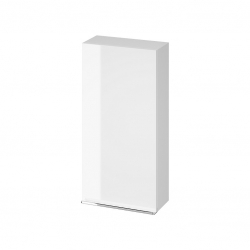 CERSANIT - Závesná skrinka VIRGO 40 biela s chrómovými úchytmi (S522-039)