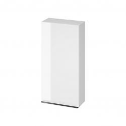 CERSANIT - Závesná skrinka VIRGO 40 biela s čiernymi úchytmi (S522-036)