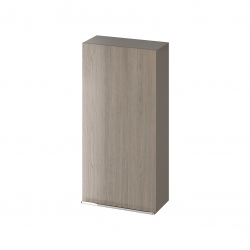 CERSANIT - Závesná skrinka VIRGO 40 sivý dub s chrómovými úchytmi (S522-037)