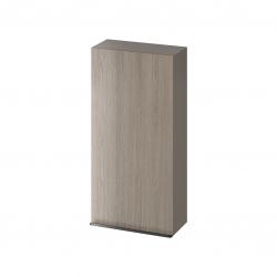 CERSANIT - Závesná skrinka VIRGO 40 sivý dub s čiernymi úchytmi (S522-038)