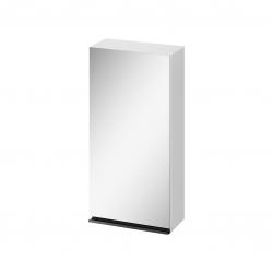 CERSANIT - Zrkadlová skrinka VIRGO 40 biela s čiernymi úchytmi (S522-009)