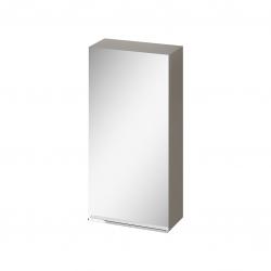 CERSANIT - Zrkadlová skrinka VIRGO 40 sivý dub s chrómovými úchytmi (S522-011)