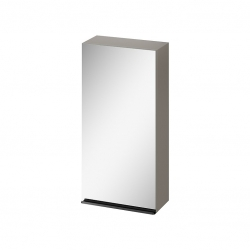 CERSANIT - Zrkadlová skrinka VIRGO 40 sivý dub s čiernymi úchytmi (S522-012)