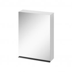 CERSANIT - Zrkadlová skrinka VIRGO 60 biela s čiernymi úchytmi (S522-014)