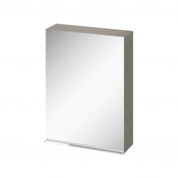 CERSANIT - Zrkadlová skrinka VIRGO 60 sivý dub s chrómovými úchytmi (S522-015)