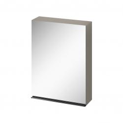 CERSANIT - Zrkadlová skrinka VIRGO 60 sivý dub s čiernymi úchytmi (S522-016)
