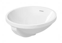 DURAVIT - Architec Bezotvorové umývadlo s prepadom, priemer 400 mm, biele – umývadlo (0468400000)