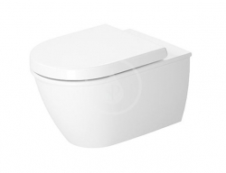 DURAVIT - Darling New Závesné WC, Rimless, DuraFix, alpská biela (2557090000)