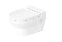 DURAVIT - DuraStyle Basic Závesné detské WC, Rimless, s WonderGliss, alpská biela (25740900001)