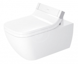DURAVIT - Happy D.2 Závesné WC na bidetovú dosku SensoWash, Rimless, s HygieneGlaze, alpská biela (2550592000)