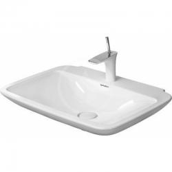 DURAVIT - Puravida Jednootvorové umývadlo bez prepadu, 600mm x 465mm, biele (2700600000)