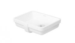 DURAVIT - Vero Bezotvorové umývadlo s prepadom, 430 mmx315 mm, biele – umývadlo, s WonderGliss (03304300001)