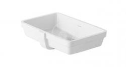 DURAVIT - Vero Bezotvorové umývadlo s prepadom, 485 mmx315 mm, biele – umývadlo, s WonderGliss (03304800001)