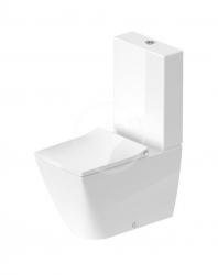 DURAVIT - Viu WC kombi misa, Vario odpad, Rimless, s HygieneGlaze, alpská biela (2191092000)
