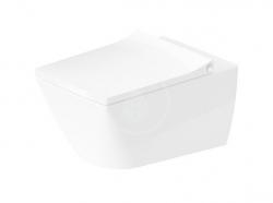 DURAVIT - Viu Závesné WC, Rimless, s WonderGliss, alpská biela (25110900001)