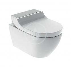 GEBERIT - AquaClean Elektronický bidet Tuma Comfort s keramikou, Rimfree, SoftClosing, kefovaná nerezová (146.292.FW.1)