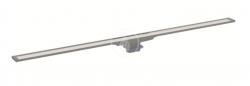 GEBERIT - CleanLine Nerezový sprchový kanálik 20, 300-1600 mm, čierna/kefovaná nerezová (154.453.00.1)
