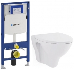 GEBERIT Duofix bez ovládacej dosky + WC CERSANIT ARES + SEDADLO (111.300.00.5 AR1)