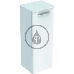 GEBERIT - Selnova Square Bočná spodná skrinka 866x330x280 mm, 1 dvierka, lesklá biela (500.182.01.1)