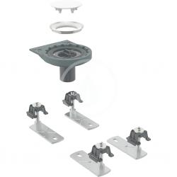 GEBERIT - Setaplano Odtoková súprava na sprchové vaničky, so 4 nožičkami, bez sifónu, inštalácia cez podlahu (154.030.00.1)