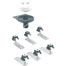 GEBERIT - Setaplano Odtoková súprava na sprchové vaničky, so 6 nožičkami, bez sifónu, inštalácia cez podlahu (154.031.00.1)