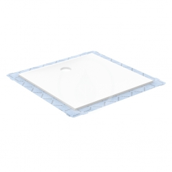 GEBERIT - Setaplano Plochá sprchová vanička, minerálny materiál, 800x800 mm, biela (154.260.11.1)
