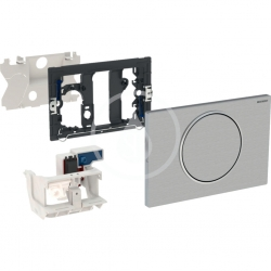 GEBERIT - Sigma10 Elektronické ovládanie splachovania, sieťové napájanie, rádiovo ovládané, kefovaná nehrdzavejúca oceľ (115.867.SN.5)