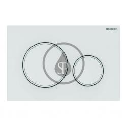GEBERIT - Sigma20 Ovládacie tlačidlo na 2 množstvá splachovania, matná biela/biela (115.882.01.1)