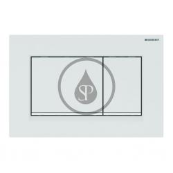 GEBERIT - Sigma30 Ovládacie tlačidlo na 2 množstvá splachovania, biela/biela mat (115.883.11.1)