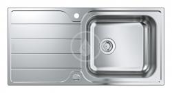 GROHE - Dřezy Drez K500 s automatickým odtokom, 1000x500 mm, kefovaná nerezová (31563SD1)