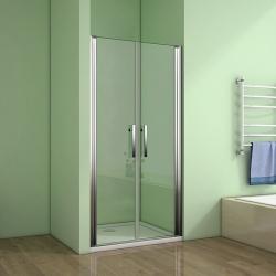 H K - Sprchové dvere MELODY D2 90 dvojkrídlové 86-90 x 195 cm, výplň sklo - grape (SE- MELODYD290-19)