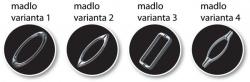HOPA - Madlo sprchových dverí - Variant madiel - Variant 1 (BCMADLO02)