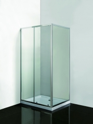 HOPA - VÝHODNÝ SET - OBDĹŽNIK SMART SELVA + PINA s vaničkou - Farba rámu zásteny - Hliník chróm, Rozmer A - 100 cm, Rozmer B - 80 cm, Smer zatváranie - Univerzálny Ľavé / Pravé, Výplň - Číre bezpečnostné sklo - 4/6 mm (OLOBD10080CC1)