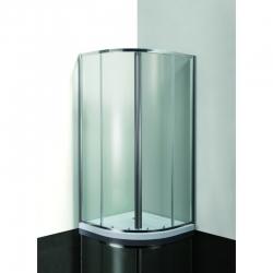 HOPA - VÝHODNÝ SET - štvrťkruh SMART MURO s vaničkou - Farba rámu zásteny - Hliník chróm, Výplň - Číre bezpečnostné sklo - 4/6 mm (OLCTVRT90CC1)