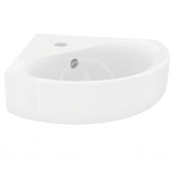 IDEAL STANDARD - Connect Rohové umývadielko 480x440x160 mm, 1 otvor na batériu, s Ideal plus, biela (E7136MA)