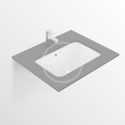 IDEAL STANDARD - Connect Umývadlo pod dosku, 420x350mm, s prepadom, biela (E505601)