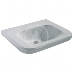 IDEAL STANDARD - Contour 21 Umývadlo pre telesne postihnutých 600mmx175mmx555mm (bez otvoru na batériu a bez prepadového otvoru), biela s Ideal plus (E5122MA)