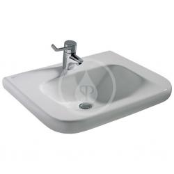 IDEAL STANDARD - Contour 21 Umývadlo pre telesne postihnutých 600mmx175mmx555mm (bez prepadového otvoru), biela s Ideal plus (E5123MA)