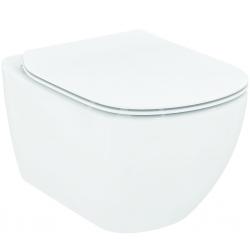 IDEAL STANDARD - Tesi Závesné WC so sedadlom SoftClose, Rimless, biela (T355101)