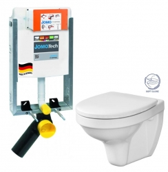JOMO modul pre zamurovanie bez sedátka + WC CERSANIT DELFI + SOFT SEDADLO (164-14600479-00 DE2)
