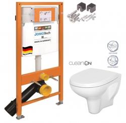 JOMOTech modul pre závesné WC bez sedátka + WC CERSANIT ARTECO CLEANON + SEDADLO (174-91100700-00 AT1)