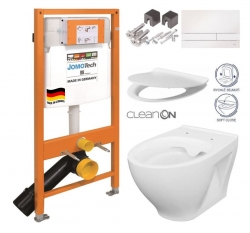 JOMOTech modul pre závesné WC s bielou doskou + WC CERSANIT CLEANON MODUO + SEDADLO (174-91100900-00 MO1)