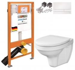 JOMOTech modul pre závesné WC s bielou doskou + WC CERSANIT DELFI + SEDADLO (174-91100900-00 DE1)