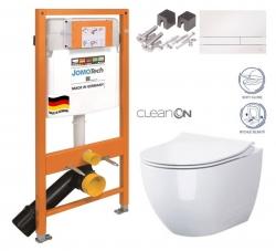 JOMOTech modul pre závesné WC s bielou doskou + WC CERSANIT ZEN CLEANON + SEDADLO (174-91100900-00 HA1)