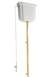 KERASAN - RETRO-WALDORF splachovací mechanismus s retiazkou, zlato (750191)