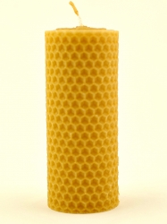 KOUPELNYMOST - Sviečka valec široký malý z vosku-003 (VOSK-0003)