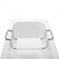 MEREO - Sedadlo vaňové, nastaviteľné, nosnosť 90 kg, chróm/polypropylén (VA365)